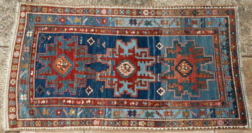 Antique Caucasian Armenian Kazak tribal rug