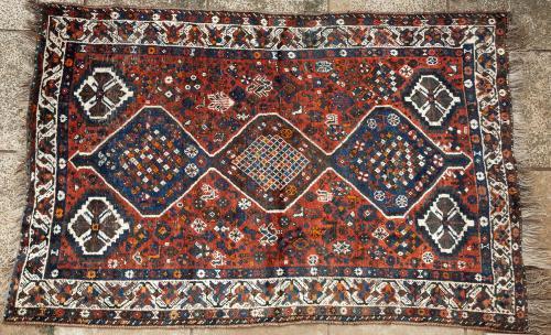 Old Shiraz Qashqa'i Persian tribal rug