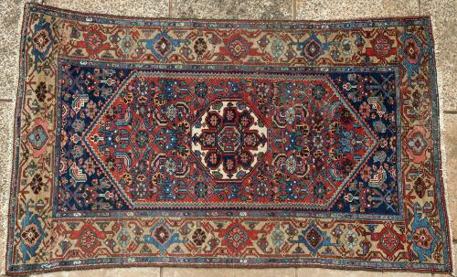 antique Kurdish Bijar Persian tribal rug