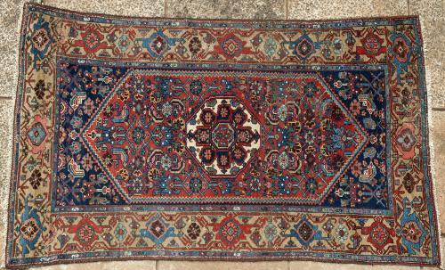 antique Kurdish Bijar Persian tribal rug