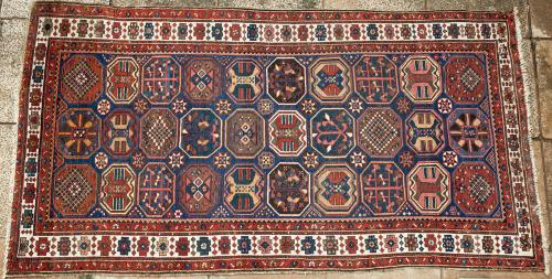 Antique Bakhtiari Persian tribal long rug
