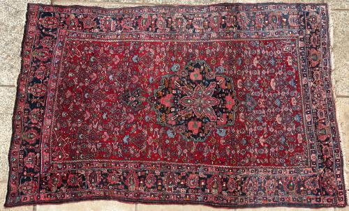 Old Kurdish Bijar Persian rug