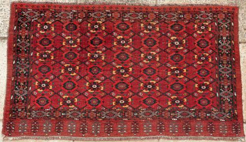 Antique Beshir Turkoman Central Asian or north Afghan storage bag