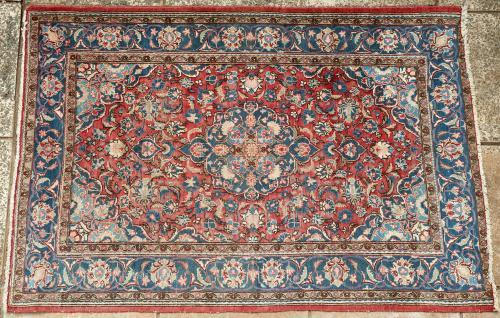 Old or antique Sarouk (Sarough) Persian rug