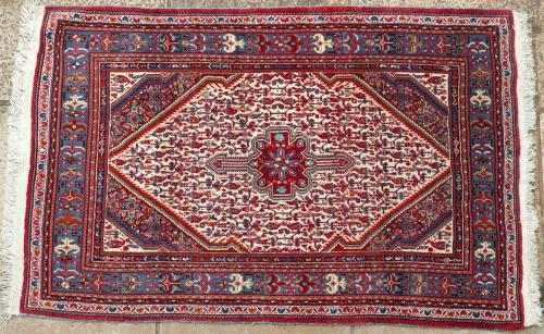 Old Senneh Kurdish woven Persian rug