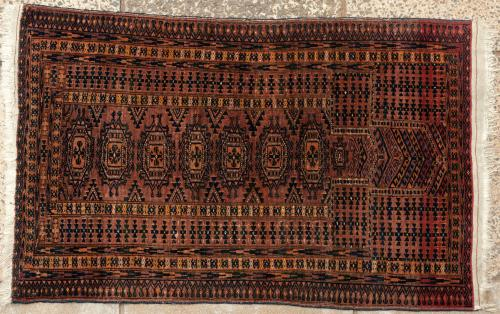 Antique or old Saryk Turkoman Afghan prayer rug