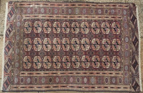 Antique Tekke Turkoman tribal rug