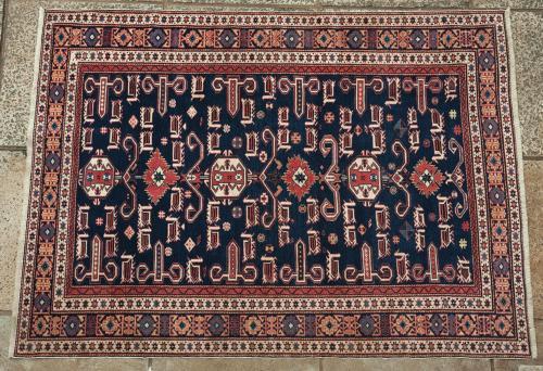 Indian (?) or Afghan Perepedil Shirvan Caucasian Rug
