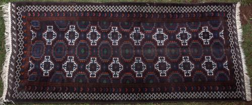 Baluch Afghan or Iranian tribal rug