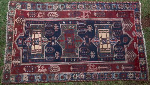 Antique Fashralo Kazak Caucasian Rug