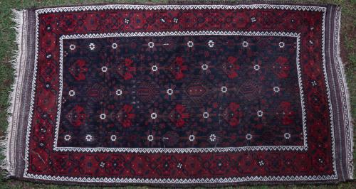 Antique Baluch Khorrassan Persian tribal rug