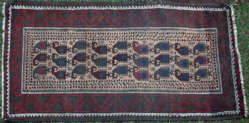 Old Baluch Afghan or Persian tribal rug