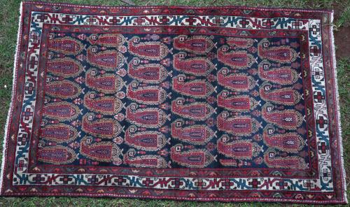 Antique Senneh-Malayer Persian Rug