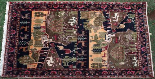 Old Hamadan Village Persian Rug