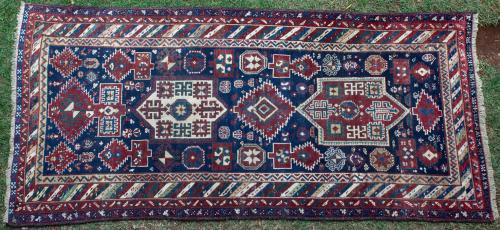 Antique Fachralo Kazak Caucasian Rug
