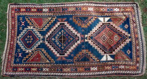 Antique Moghan or Kazak Caucasian rug