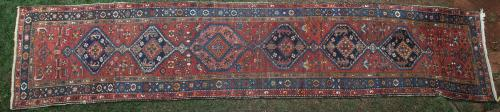Antique Karabagh Caucasian runner