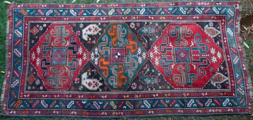 Antique Chondoresk Karabagh Caucasian Rug