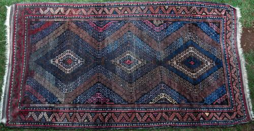 Antique Aimaq Baluch Afghan or Persian tribal rug