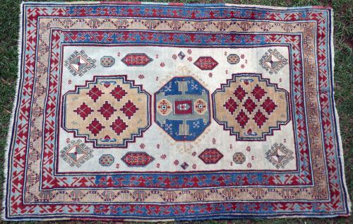 Lori Pambak or a three-medallion Kazak Caucasian tribal