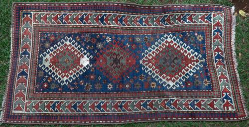 Antique Kazak Bordjalou (?) Caucasian tribal rug