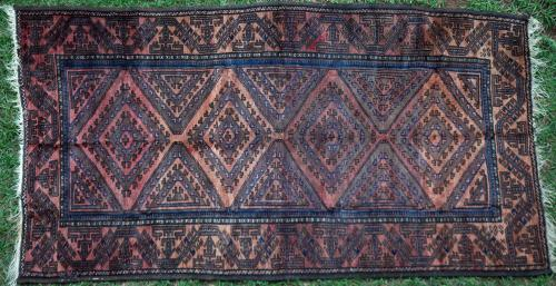 Antique Baluch Afghan tribal rug