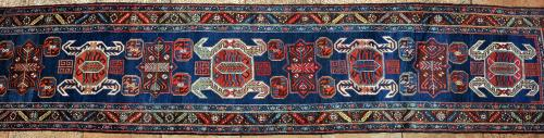Antique Lenkoran Caucasian Runner