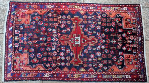 Old Malayer or Hamadan Persian rug