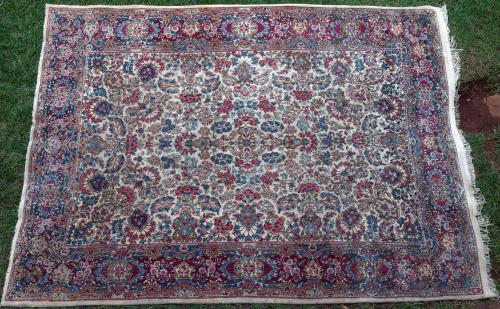 Antique Kerman Persian carpet