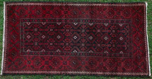 Antique Baluch Tribal Afghan rug