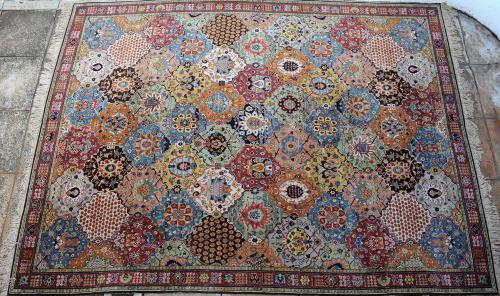 Old German Tetex hook knot carpet