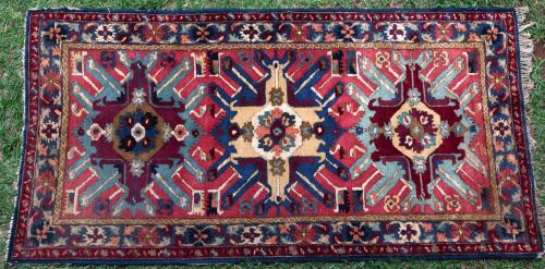 A 1930s German hooked rug