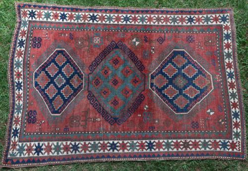 Antique Lori Pambak Kazak Caucasian rug