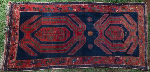 Antique Lenkoran Caucasian Rug