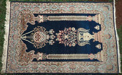 Old Kashan Persian small Rug