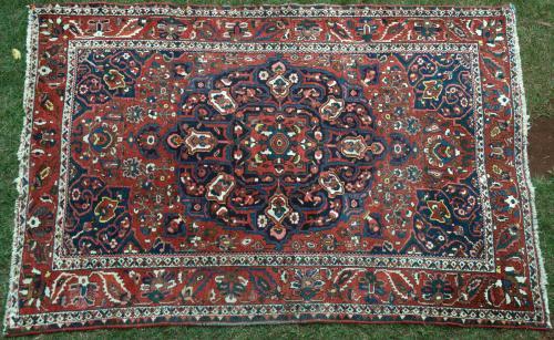 Persian Baktiari Tribal Old Rug