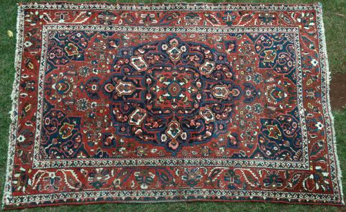 Persian Baktiari Tribal Old Rug
