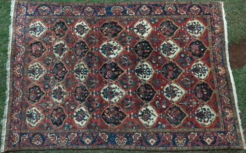 Persian Bakhtiari Tribal Antique Carpet