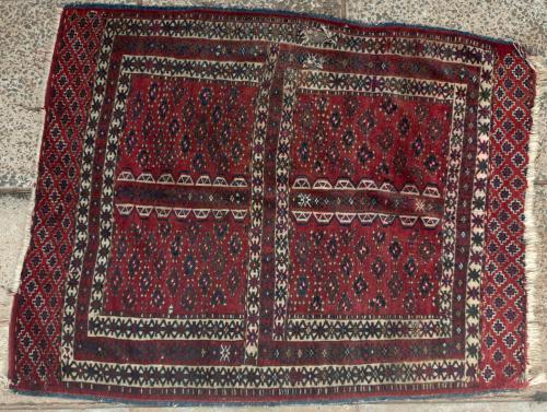 Antique Yomut Turkoman Hatchlu or Engsi