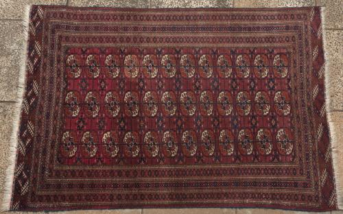 Old or antique Tekke Turkoman tribal rug