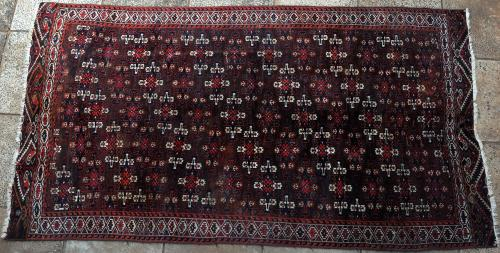 Old or Antique Yomut Turkoman main carpet