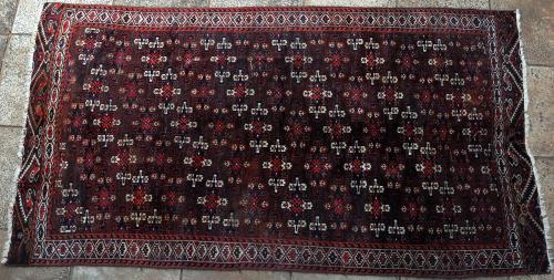 Old or Antique Yomut Turkoman main carpet