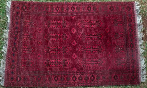 Old Ersari Afghan Charshango Rug
