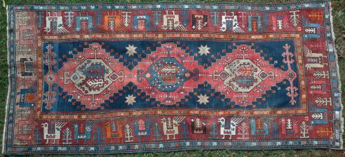 Antique Karabagh Caucasian Rug
