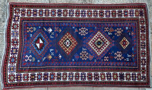 Anique tribal Kazak Caucasian Rug