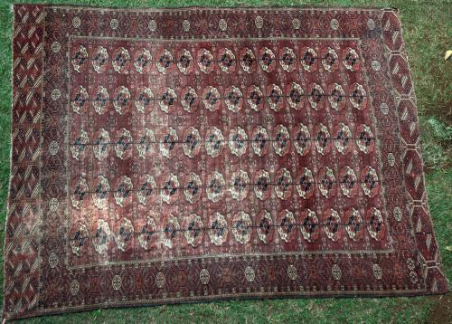 Antique Tekke Turkoman Main Carpet Turkmenistan