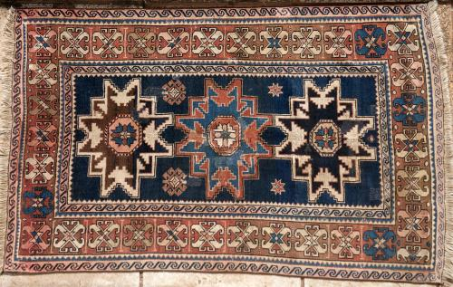 Antique Caucasian Armenian Kazak tribal rug