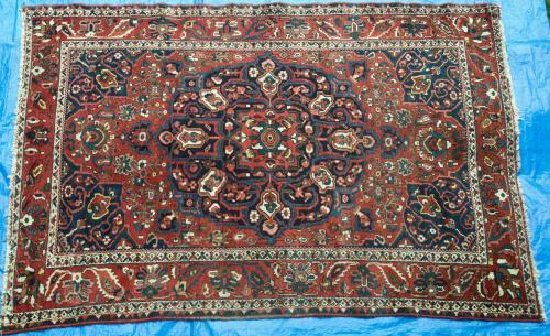 Old to antique Bachtiari tribal Persian Carpet