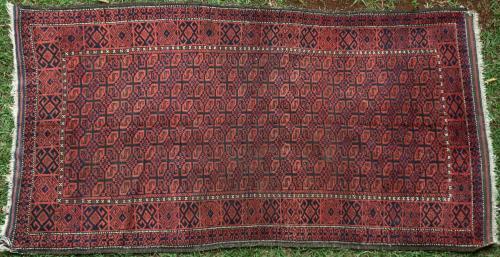Antique Baluch Afghan tribal rug