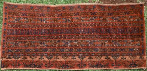 Antique Ersari Afghan oversized juval or storage bag